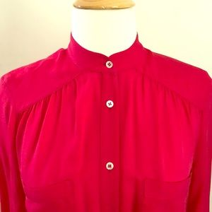 Haute Hippie tunic-length red blouse